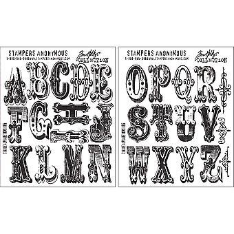 "Tim Holtz Cling Stamps 7""X8.5"" - Cirque Alphabet"