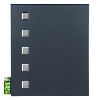 MOCAVI Box 121 Brevlåda med tidningsfack antracitgrå (RAL 7016) med rostfritt stål