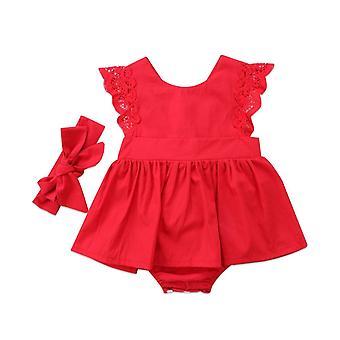 Kerstmis peuter baby pasgeboren baby romper jurk jumpsuit
