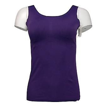 Rhonda Shear Femme Top S V Back Body Tank Bust Cover Rembourré Violet 673236
