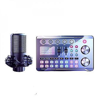 Microphone. With Sound Card Processor Set. Wireless Bluetooth Media Streaming Player. Suitable For Pc Computer Karaoke Microphone.