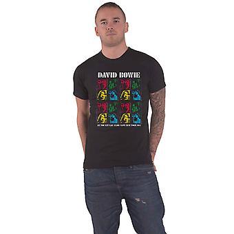 David Bowie T Shirt Kit Kat Klub New York 1999 nouveau Officiel Homme Noir