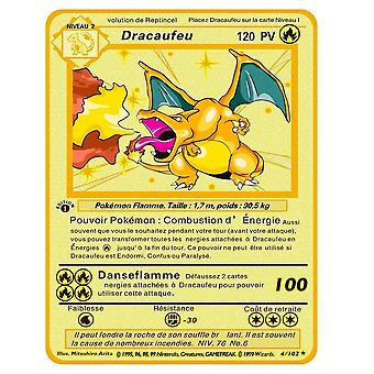 Aionyaaa Newest Pokemon Yugioh Pikachu Vmax V Gx Ex Shiny Gold Metal Card Game Tag Team Fight Of Order Series Child Christmas Gift