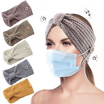 Packung mit 5 Winterstrick-Stirnbändern, Kopfbedeckungen und Winter-Ohrenschützern