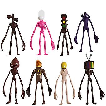 8pcs Siren Head Action Figures Pvc Model Adventure Game Collection Kid Gift Toy