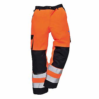 Portwest - Lyon Texo Workwear Uniform Contrast Coloured Hi-Vis Safety Trousers
