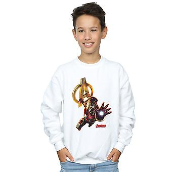 Marvel Boys Iron Man Pose Sweatshirt