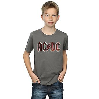 AC/DC Jungs Logo roh Distressed T-Shirt