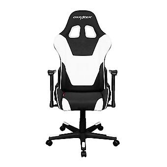 DX Racer DXRacer OH/FD101/NW High-Back Computer Chair Strong Mesh+PU(Black/White)
