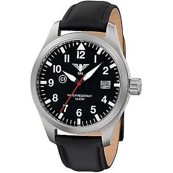 KHS horloges mens watch Airleader staal KHS. VOOR HET EERST UITGEZONDEN. L