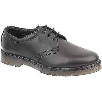 Amblers Mens Aldershot Lace Leather Gibson Shoe Black
