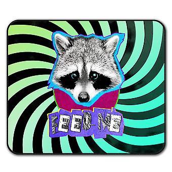Cute Racoon Face  Non-Slip Mouse Mat Pad 24cm x 20cm | Wellcoda