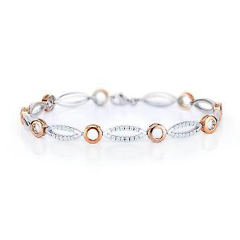 Orphelia Silber 925 Armband ovale und Kreise mit Zirkonium ZA-7362