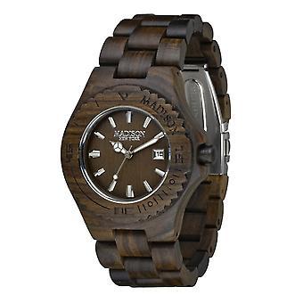 Madison New York Unisex horloge armband horloge hout G4542D