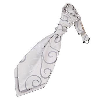 Scroll Argento matrimonio pre-legato Cravat per ragazzi