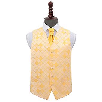 Zonnebloem gouden diamanten bruiloft gilet & Cravat Set