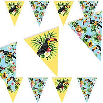 Tucano verão festa Wimpel cadeia 10m tropical Tucano festa decoração