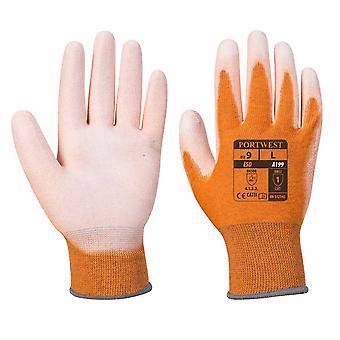 Suw - Esd Antistatic Pu Palm Grip Käsineet (6 paria pakkaus) Harmaa Xsmall