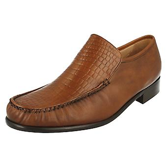 Mens Grenson Croc Detailed Shoes Montana