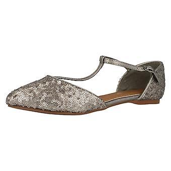 Senhoras Savannah Sequin embelezado Flats