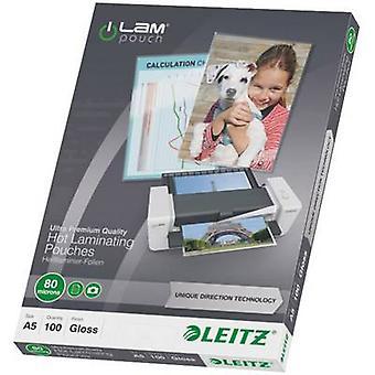Leitz صفيح ورقة A5 80 ميكرون لامعة 100 جهاز كمبيوتر (s)