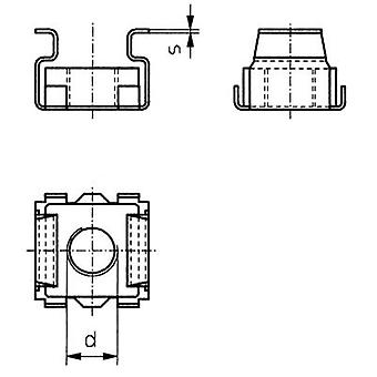 TOOLCRAFT 521847 jaula tuercas M6 acero 10 PC