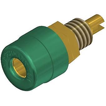 SKS Hirschmann BIL 20 Au Jack socket Socket, vertical vertical Pin diameter: 4 mm Green 1 pc(s)