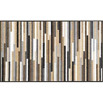 wash + dry dirt mat Mikado stripes nature 75 x 120 cm washable floor mat