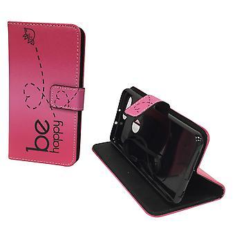 Matkapuhelin tapauksessa pussi mobile Huawei honor 8 olla onnellinen vaaleanpunainen