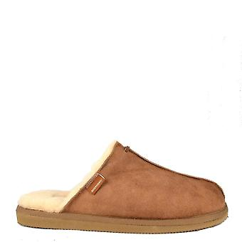 Shepherd of Sweden Mens' Hugo Antique Cognac Suede Slipper