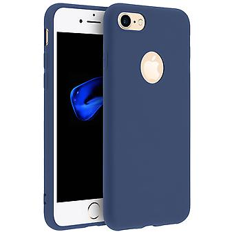 Forcell case for iPhone 7, iPhone 8, soft touch cover, silicone case - Navy Blue