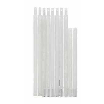 Raffrollo Vikt Ingeration Personal Set Plasttillbehör Reservdel Drop Rod Transparent för gardiner 400-1200 mm