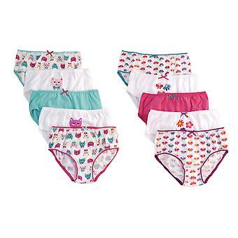 Dziewczyny Anucci 100% bawełniane Majtki drukowane spodnie bielizna dziecieca 10 szt.
