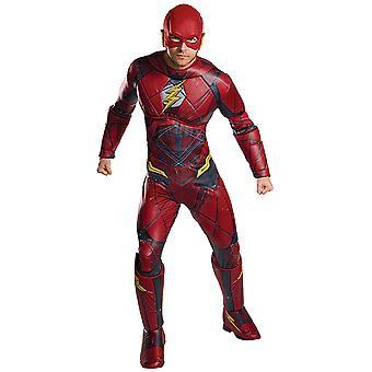 Flash Deluxe ligi sprawiedliwości kostium męska karnawałowe komiksów Marvela