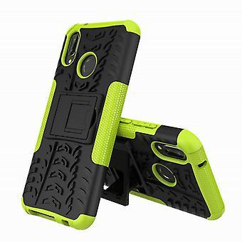 Hybrid fall 2 bit SWL utomhus grön för Huawei honor 8 X påse Pocket sleeve cover skydd