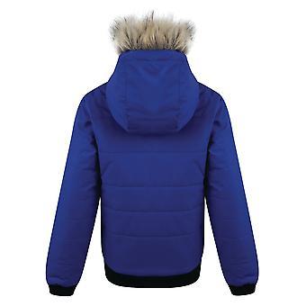 2 b の子供の女の子の早熟な防水絶縁ジャケットをあえてください。