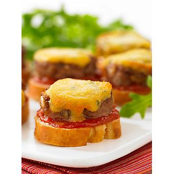 Frank Dale Frozen Mini Cheeseburger Crostinis