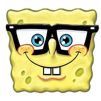 Spongebob Goofy Spectacles Card Fancy Dress Mask