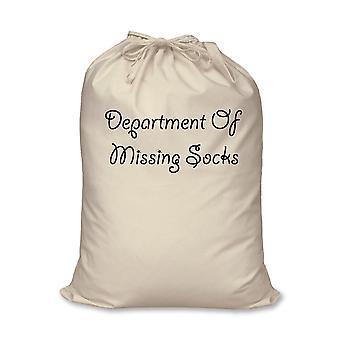 Tanszék hiányzó zokni Bag 100% természetes pamut