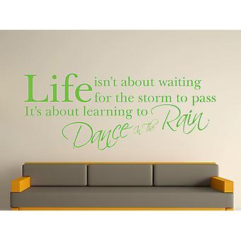 Dance In The Rain Wall Art Sticker - Apple Green