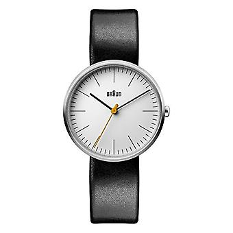 Braun Classic ladies Quartz analogue watch with leather strap BN0173WHBKL