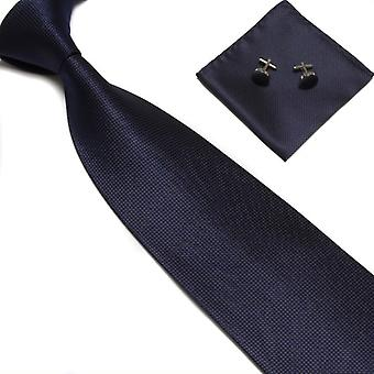Costume Accessories | Tie + handkerchief + cufflinks-dark blue