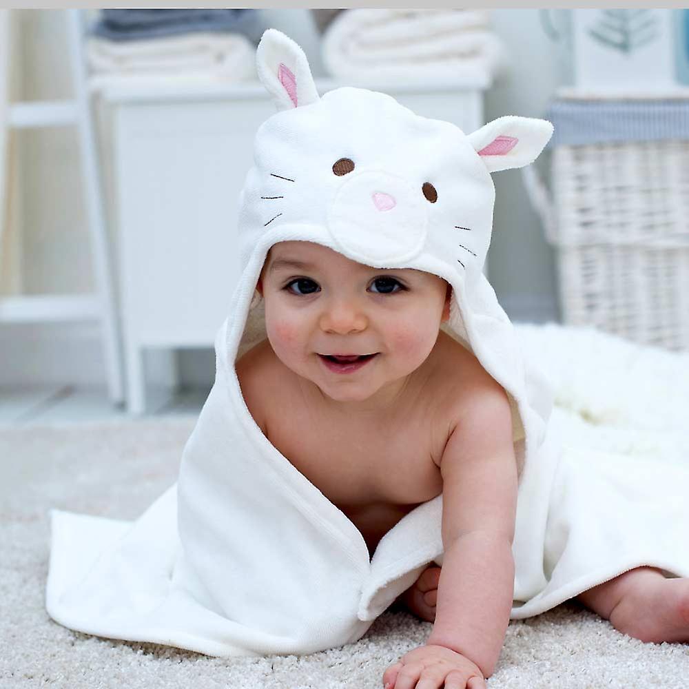 Snowdrop Kitten baby towel gift set