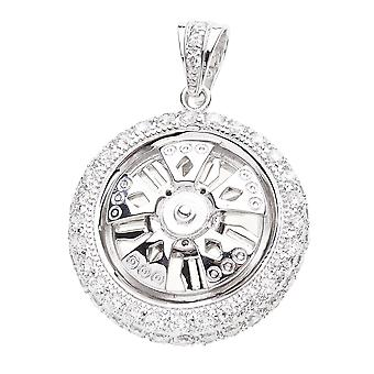 925 Iced Out Sterling Silber Anhänger - SPINNER