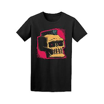 Skull With Mohawk Drawing Tee Men's -Image by Shutterstock