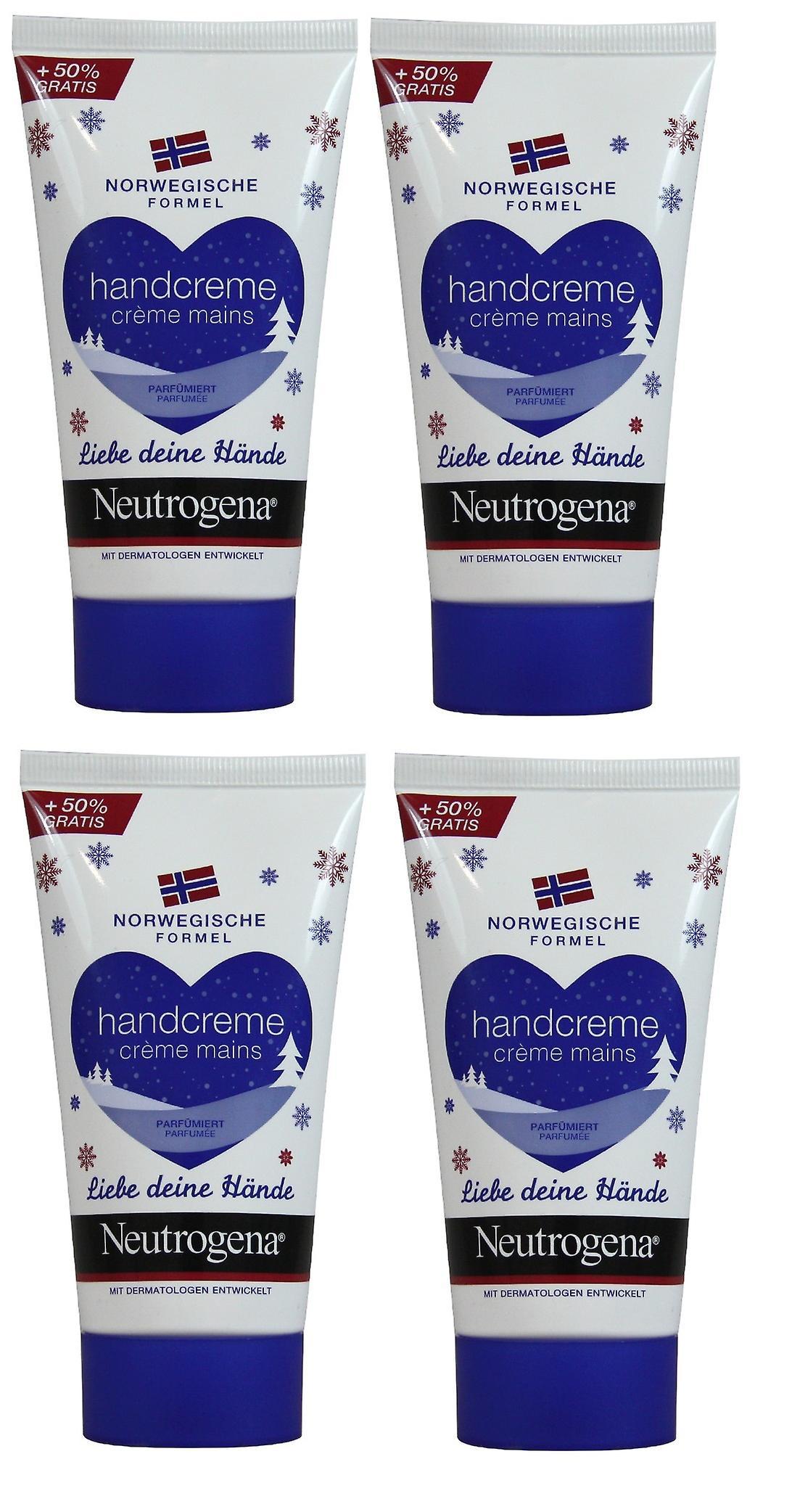 4 x Neutrogena Norwegian Scented Hand Cream - Concentrated - 75ml
