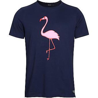 Bjorn Borg cotone organico rilassato-Fit t-shirt W / stampa Flamingo, Navy
