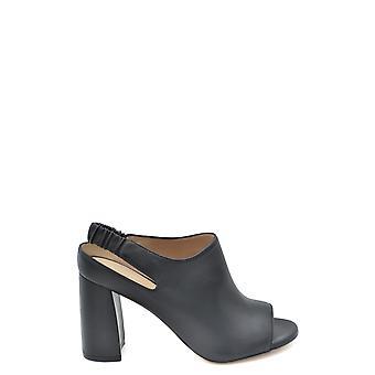 Stuart Weitzman Ezbc158007 Dames's Black Leather Slippers