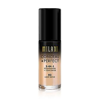 Milani Conceal + Perfect Liquid Foundation-03 Light Beige