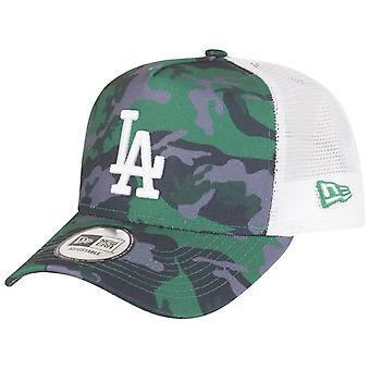 New Era regulowany Trucker Cap-LA Dodgers drewno Camo